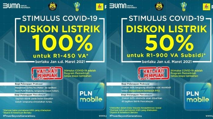 atau Buka Aplikasi PLN Mobile LOGIN WWW.PLN.CO.ID Klaim Token Listrik Gratis PLN Februari 2021